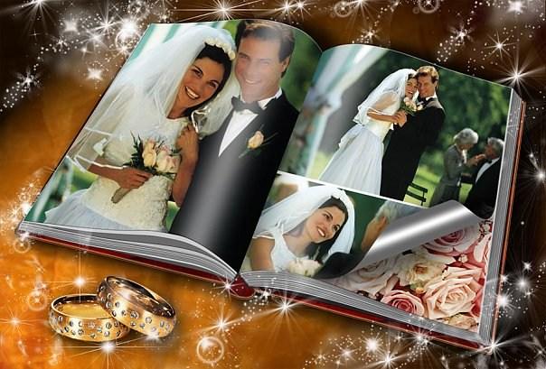 Примеры оформления свадебного альбома