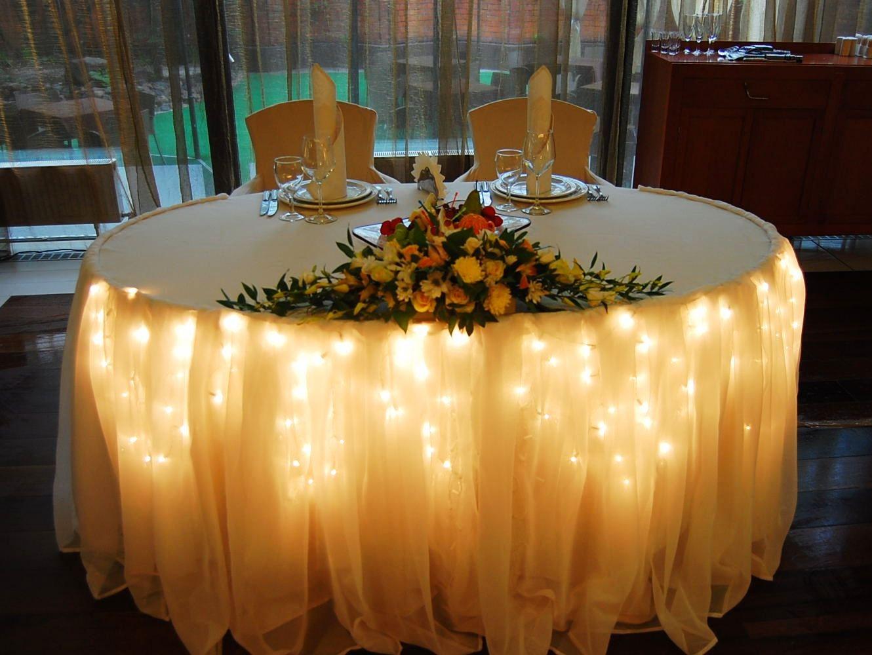 Украшение маленького зала для свадьбы