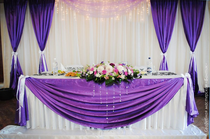 Украсить свадебный зал своими руками фото