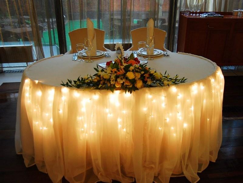Как украсить маленький зал на свадьбу