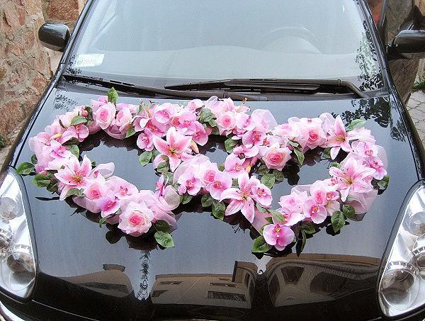 Как сделать сердце из цветов на машину